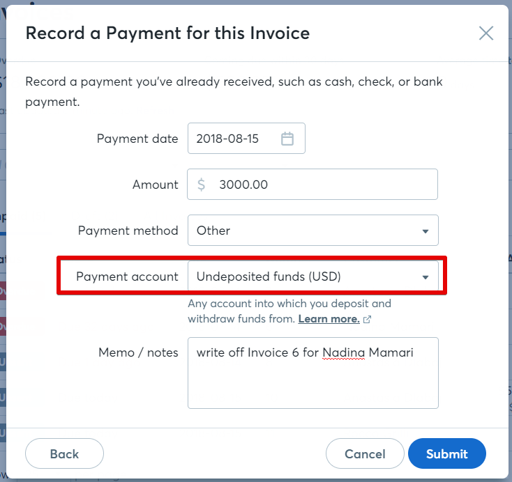 How to write off an invoice – Help Center
