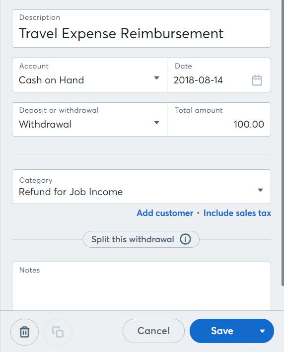 claim reimbursable expenses on an invoice help center