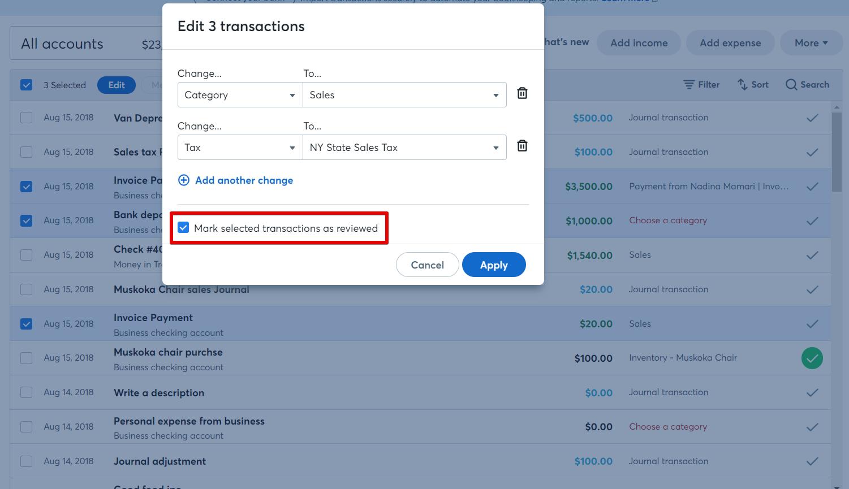 How to bulk categorize transactions – Help Center