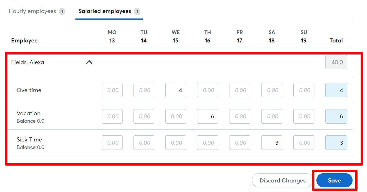 how to fill in your employee s timesheet help center