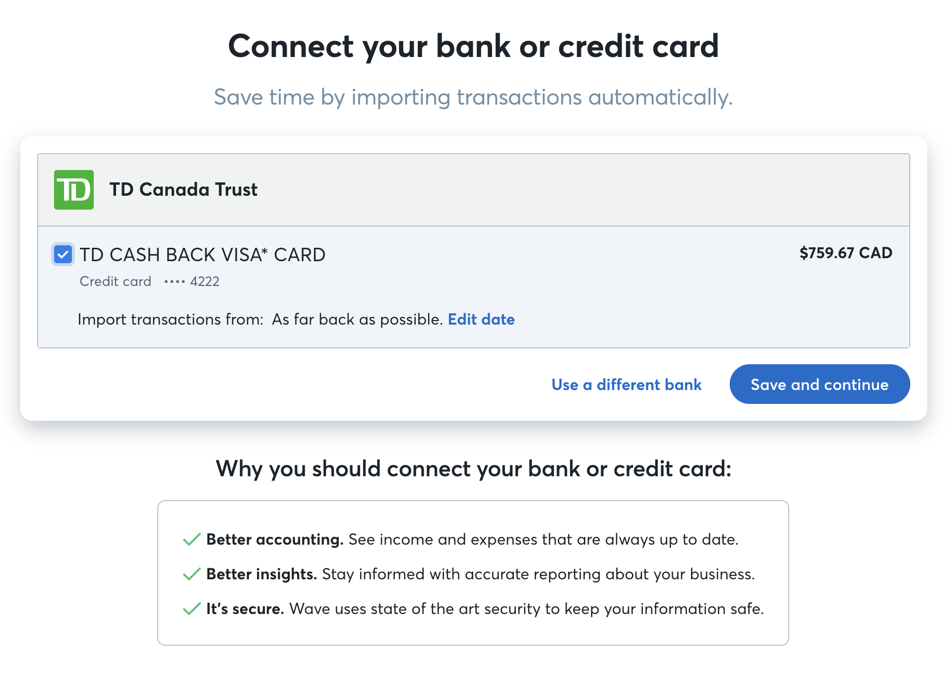 Connect Your Bank Account To Wave Help Center Wiring Money Capital One Plaid5