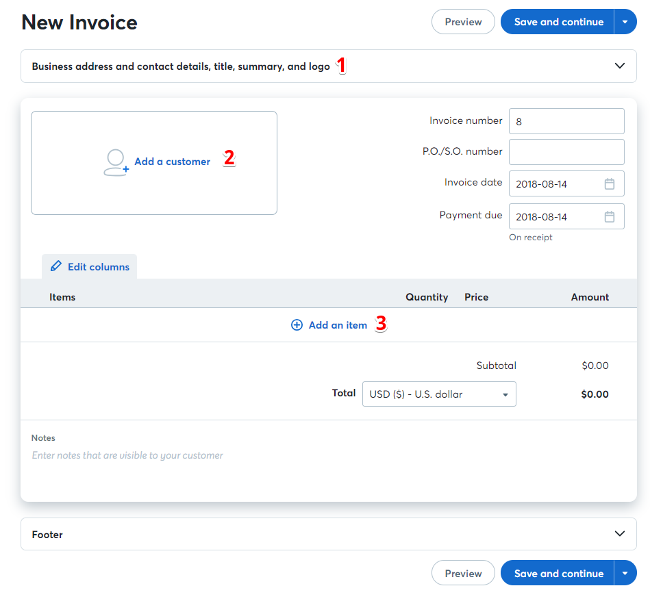Invoice Like A Pro Help Center - Invoice details