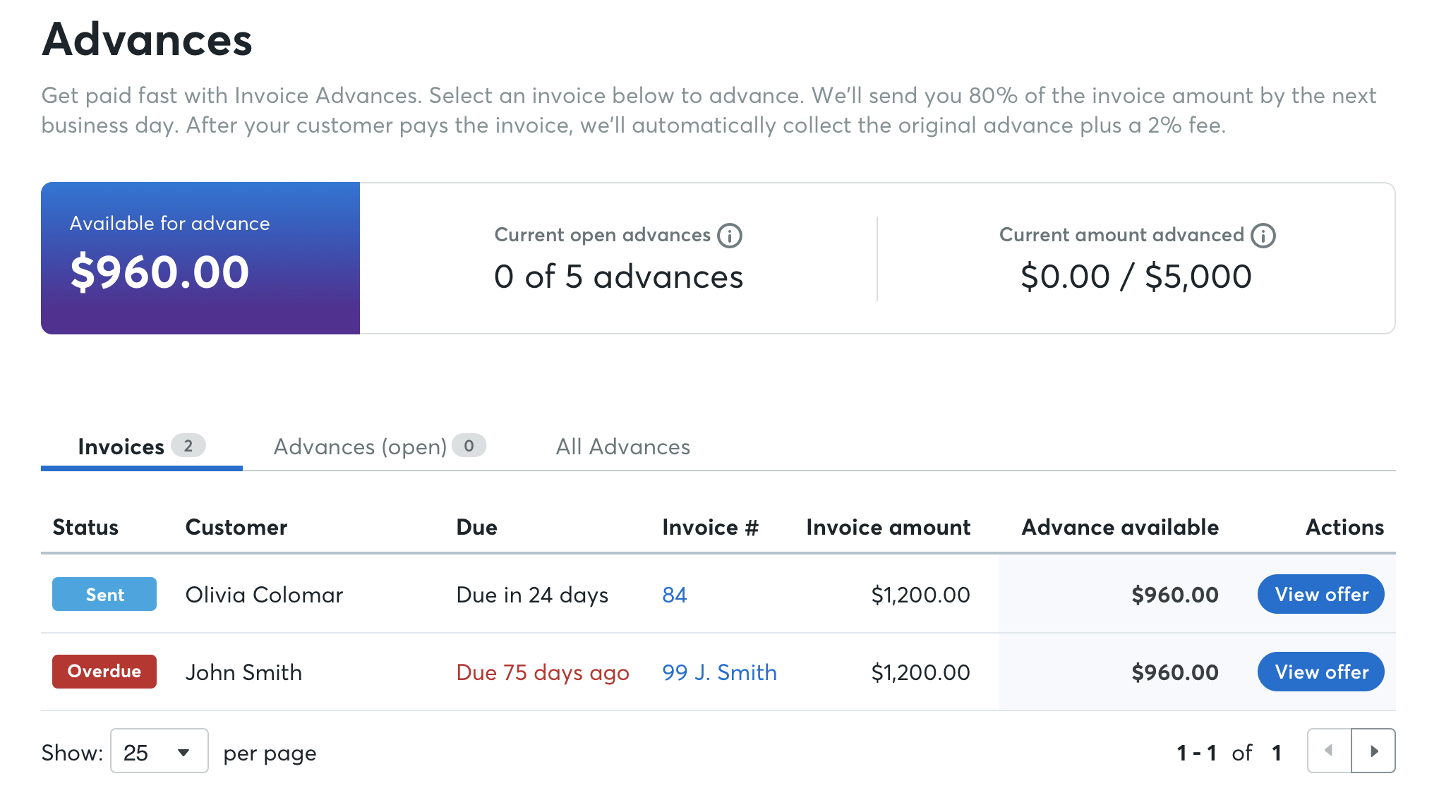 Limited Release] Introduction to Invoice Advance – Help Center