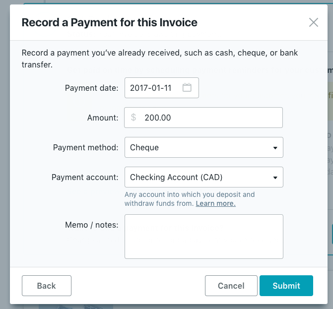 How Do I Categorize An Invoice Payment Help Center - Invoice received