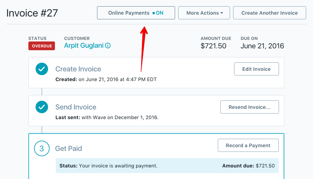 How Do I Turn Off Bank Payments Help Center - Waveapps invoice