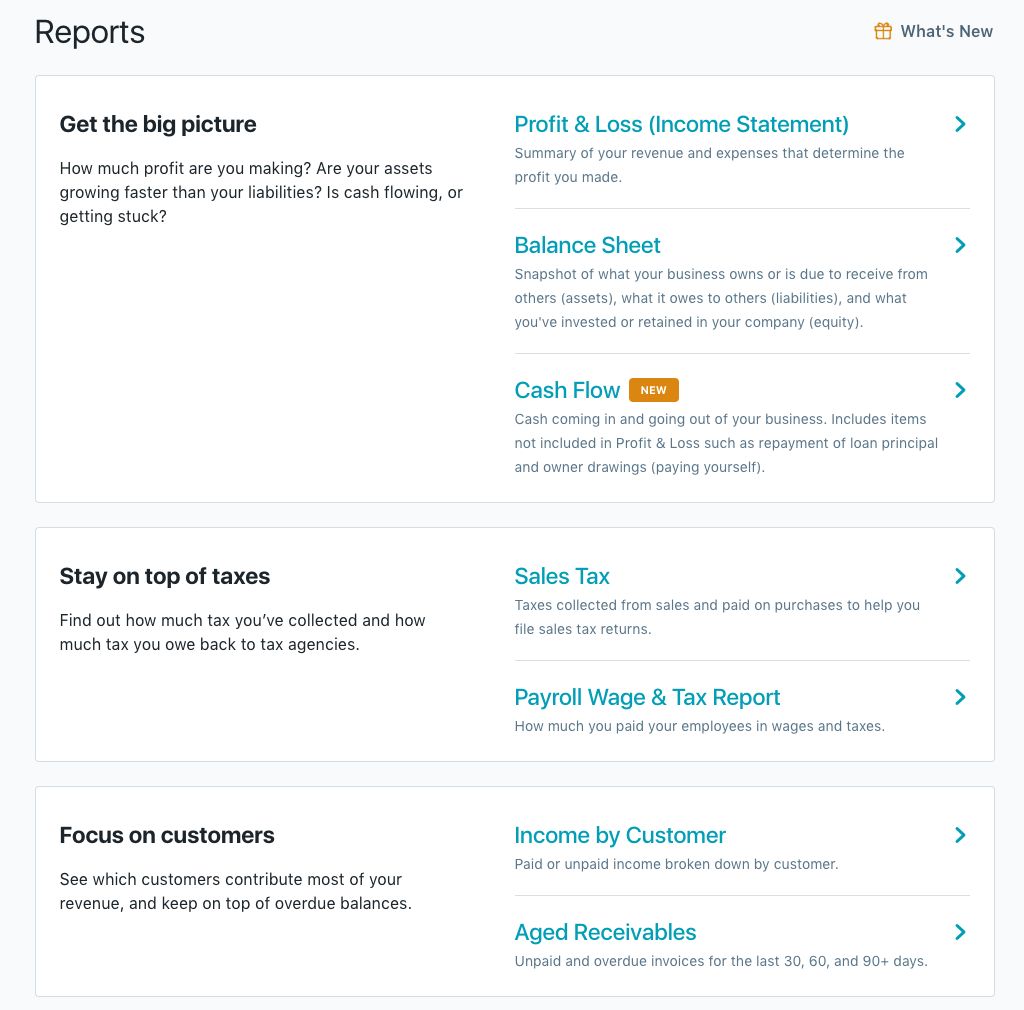 cash report