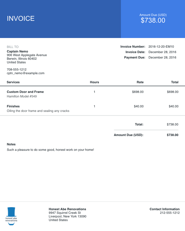 Auto Invoice Price Pdf How To Customize Your Invoices And Estimates  Help Center Receipt No Excel with Australian Tax Invoice Template After Selecting An Invoice Template Customize The Rest Of Your  Invoice Software Reviews