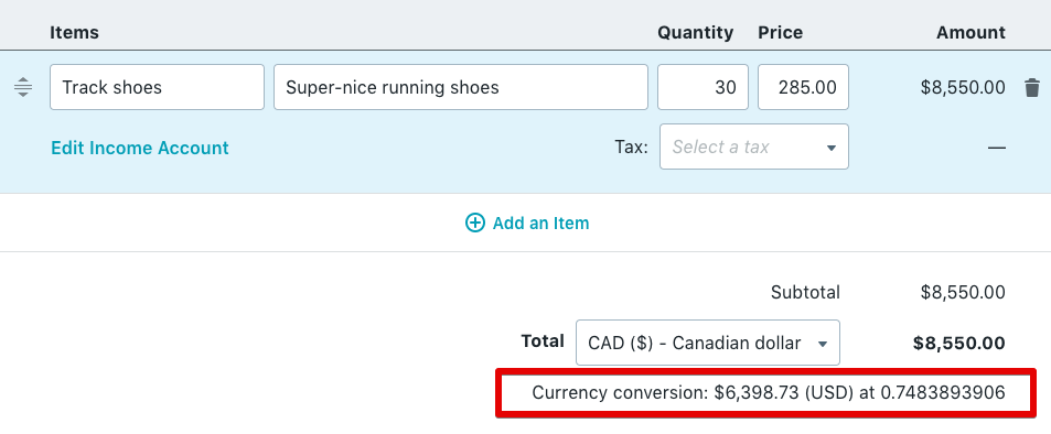 how to calculate currency exchange loss