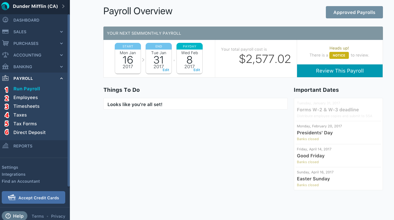wave payroll overview